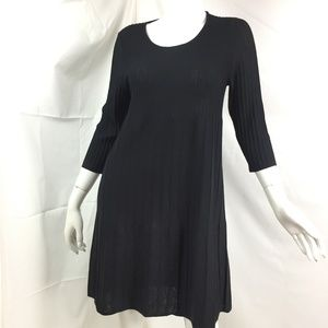 Eileen Fisher S ribbed wool dress